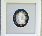 Framed Cameo Brooch in 3D