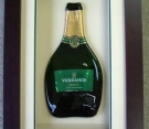 Framed Champagne Bottle in 3D