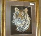Striking tiger tapestry